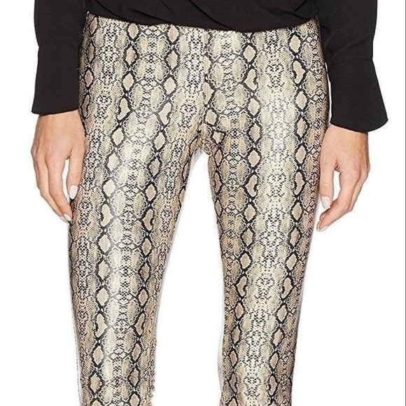 e3f65405fcbaad HUE Pants | Python Leatherette Faux Leather Leggings New | Poshmark